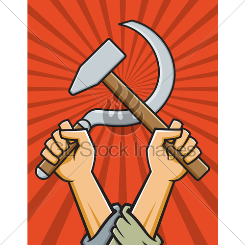500x500 Hammer And Sickle Vector Illustration Gl Stock Images