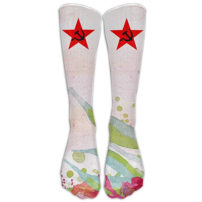 679x679 Hammer And Sickle Vector Unisex Knee High Sports Socks