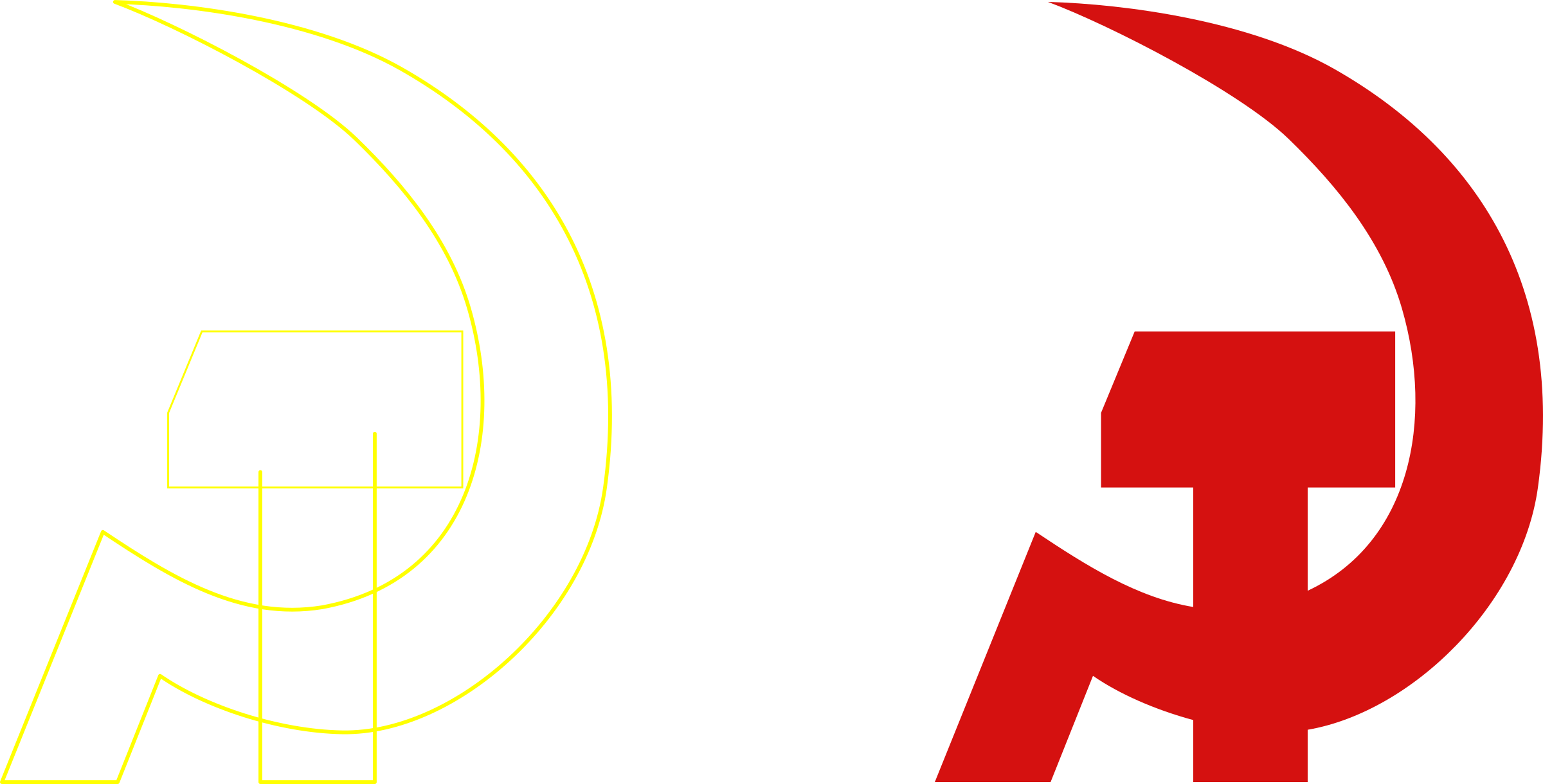 2400x1220 Hammer And Sickle By Rones Icons Png