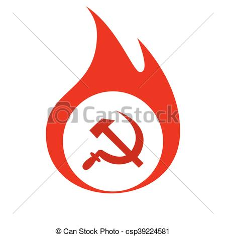 450x470 Hammer And Sickle Vector Illustration. Hammer And Sickle Isolated