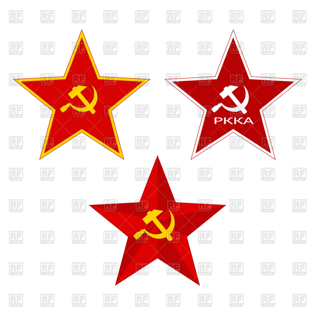 1200x1200 Red Ussr Star With Hammer And Sickle Vector Image Vector Artwork