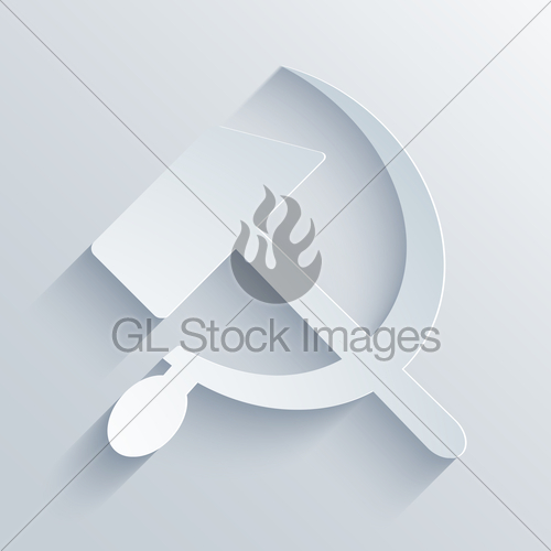 500x500 Vector Modern Sickle And Hammer Symbol Background. Gl Stock Images
