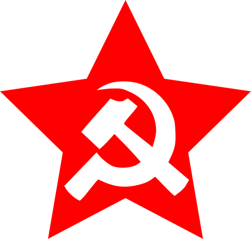 500x475 Vector Image Of Large Hammer And Sickle In Star Public Domain