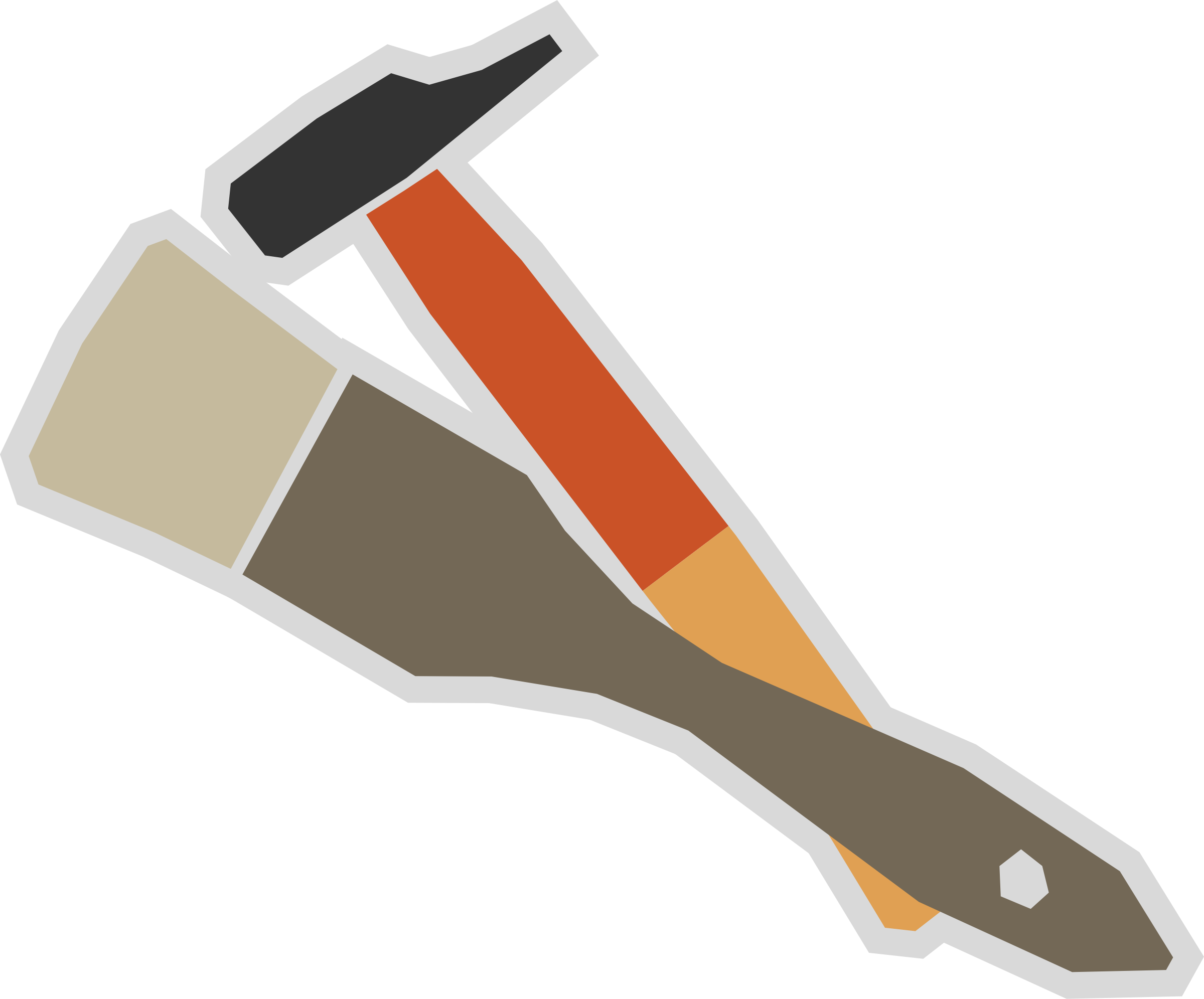 2400x1992 Brush And Hammer Vector Clipart Image