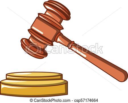 450x362 Judge Wood Hammer Icon, Cartoon Style. Judge Wood Hammer Icon