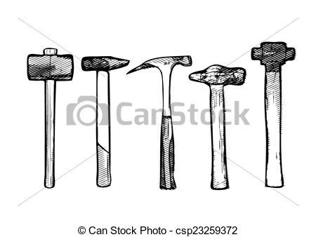 450x338 Tool Hammer Vector Illustration On White.