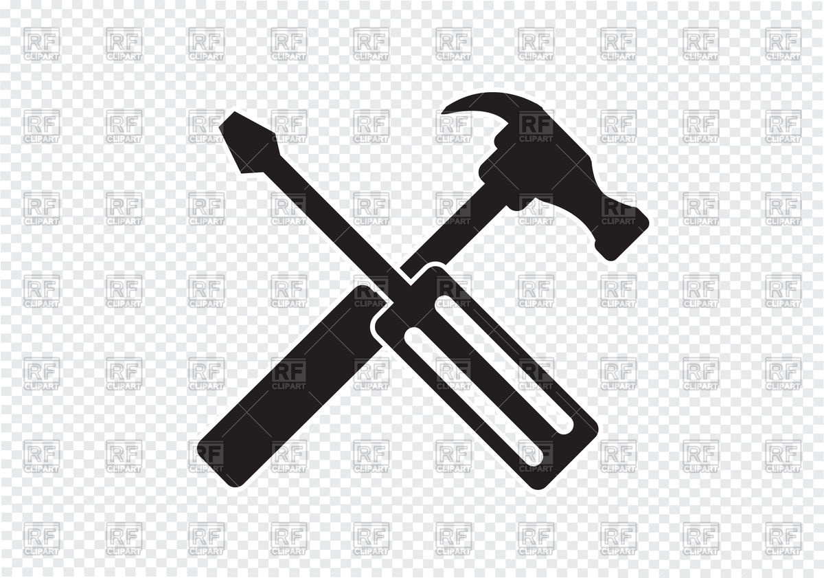 1200x841 Tools And Hammer Icon Vector Image Vector Artwork Of Industrial