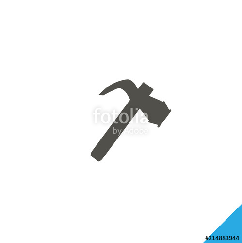 499x500 Hammer Vector Icon Stock Image And Royalty Free Vector Files On