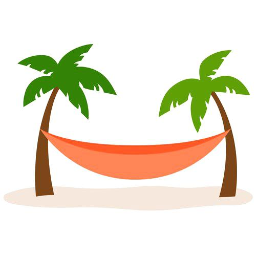 500x500 Palm Tree Hamock Palm Trees Hammock Vector Two Palm Trees And A