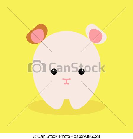 450x470 Cute Cartoon Hamster. Cute Cartoon Hamster On A Yellow Background.