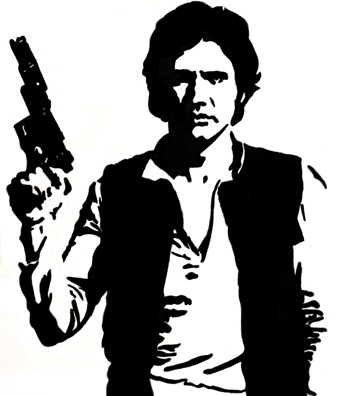 685x805 Star Wars Png Black And White Transparent Star Wars Black And