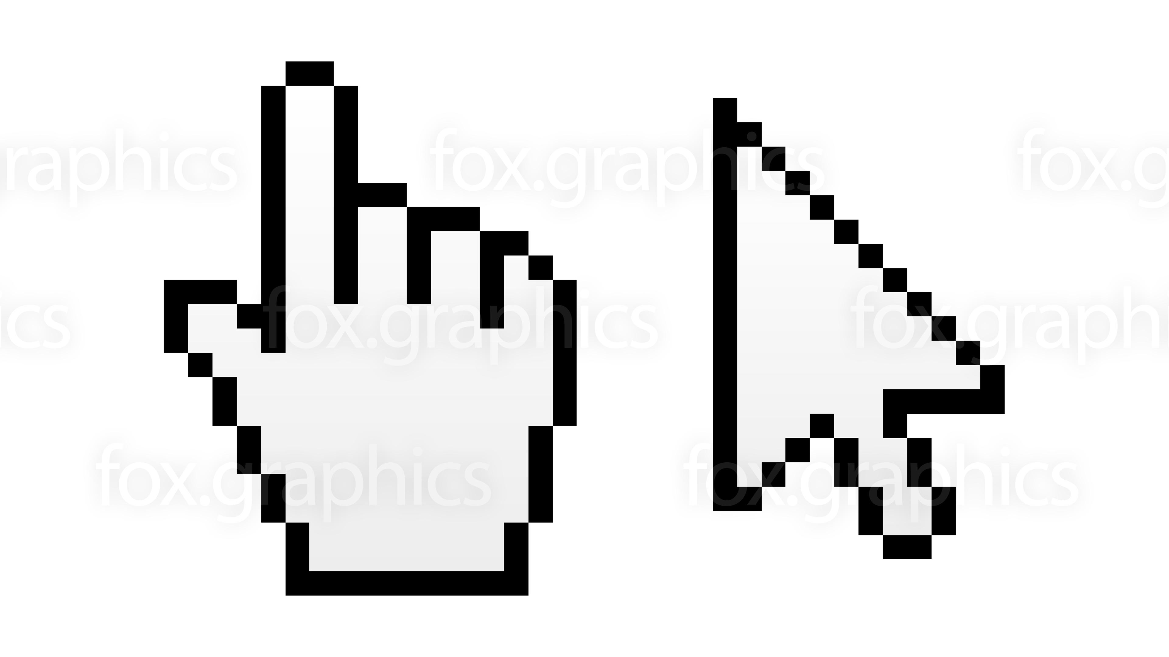 3840x2160 Hand Pointer And Arrow Cursor (Vector)