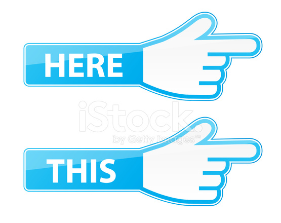 555x440 Mouse Hand Cursor Vector This Here Pointer Labels Stock Vector