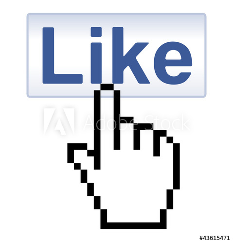 479x500 Button And Pixelated Hand Cursor, Vector