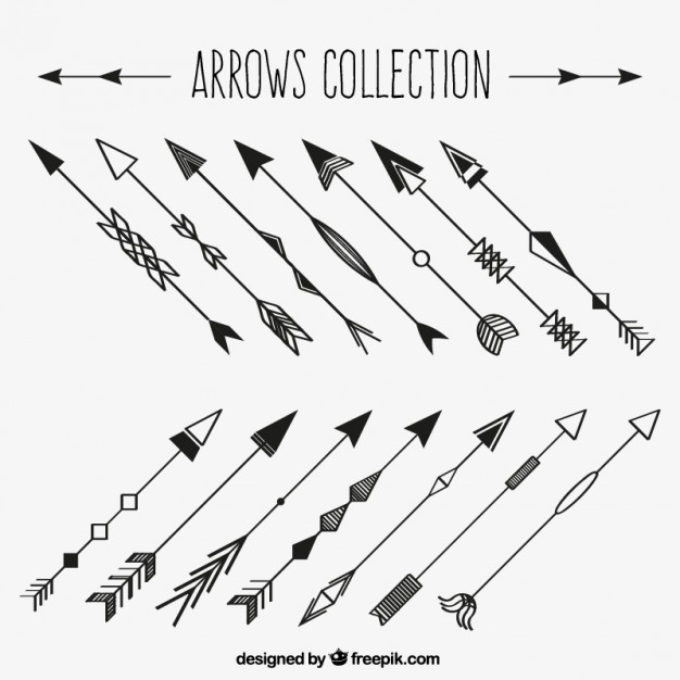 626x626 Set Of Hand Drawn Decorative Arrows Vector Free Download