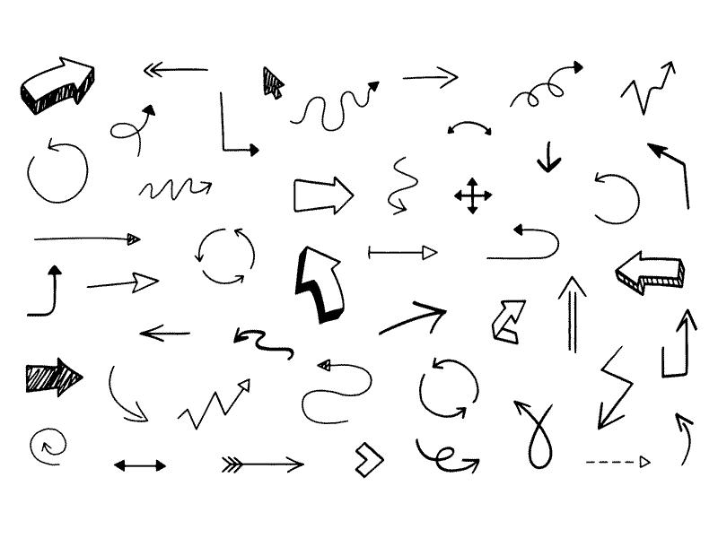 800x600 46 Hand Drawn Arrows Sketch Freebie