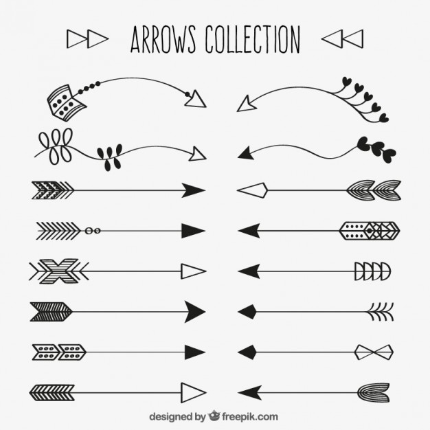 626x626 Collection Of Decorative Hand Drawn Arrow Vector Free Download