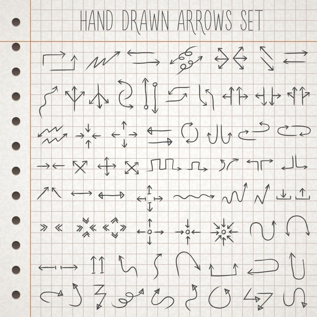 1024x1024 Hand Drawn Arrow Vector Free Download Ai Files
