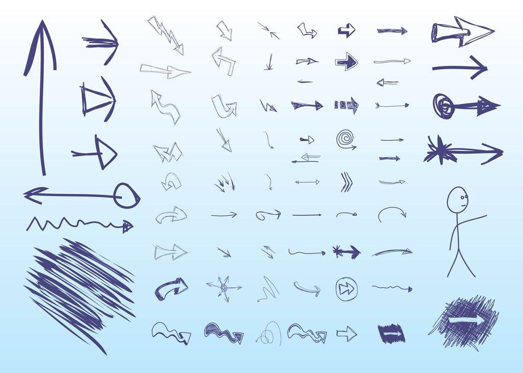 1024x731 Hand Drawn Arrows Vector Art Amp Graphics