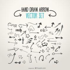 236x236 200 Hand Draw Arrow Vector Set From Freepik Drawn