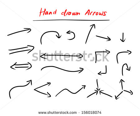 450x374 Hand Drawn Arrow Free Vector Download (8,010 Free Vector) For