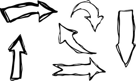 439x262 Hand Drawn Arrows Creative Vector Free Vector In Adobe Illustrator