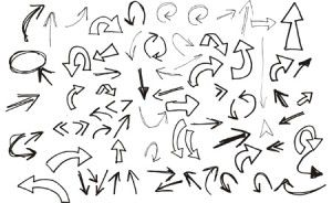 300x184 Arrows, Black White, Free, Hand Drawn, Icons, Vector Http