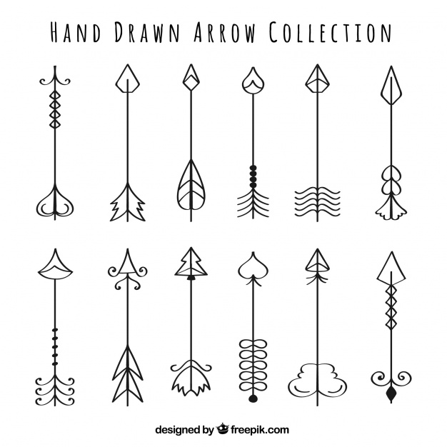 626x626 Ai] Collection Of Hand Drawn Arrows Vector Free Download