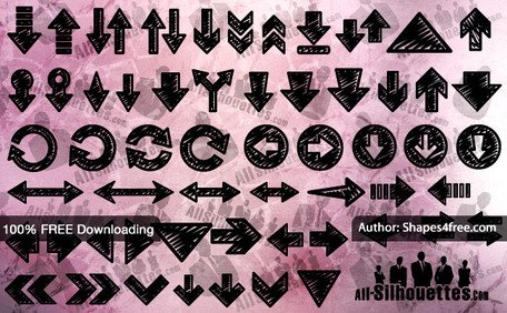 456x282 Free 50 Hand Drawn Arrows Clipart And Vector Graphics
