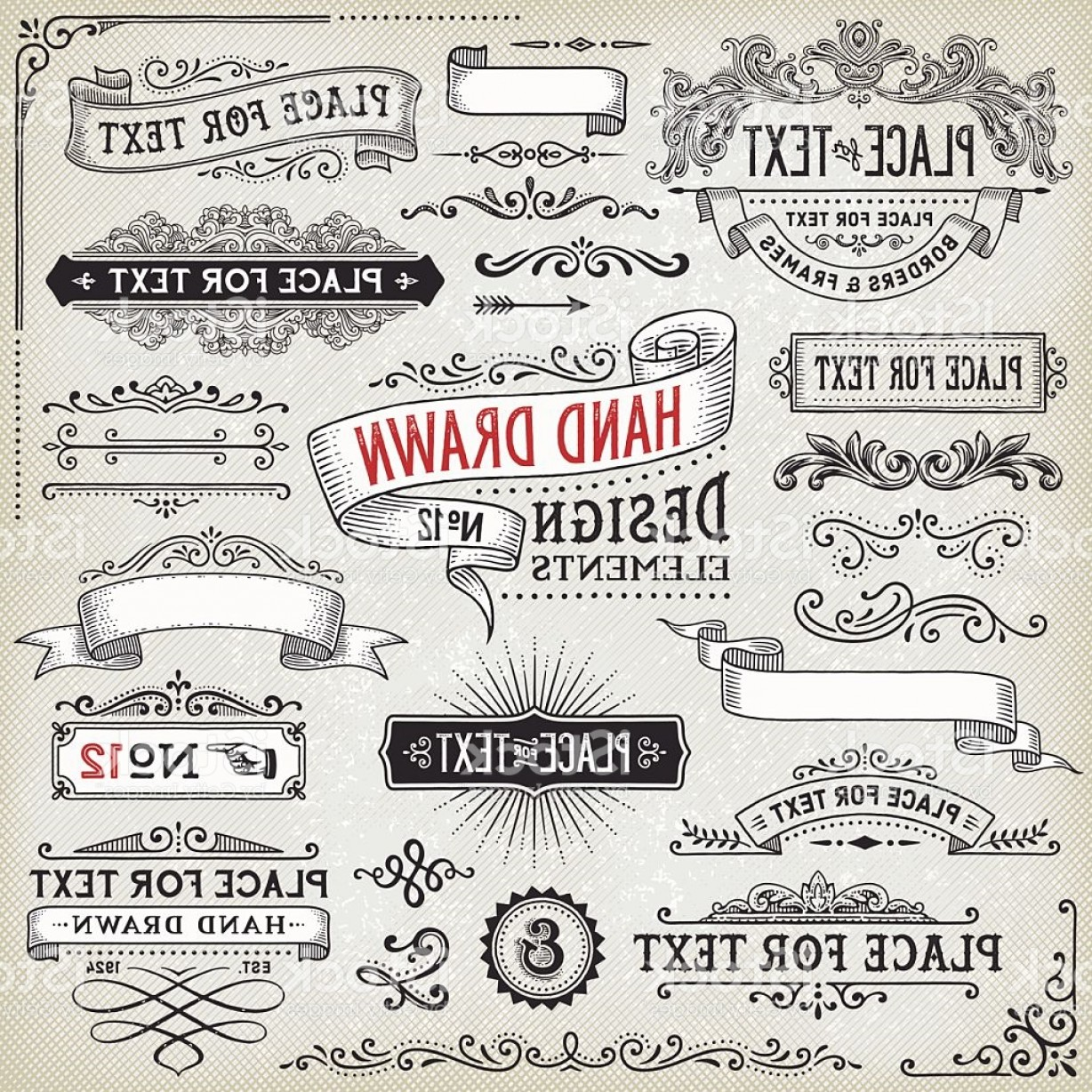1228x1228 Hand Drawn Text Banner Vector Arenawp