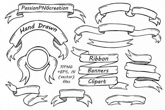 580x386 Drawn Ribbon Clipart