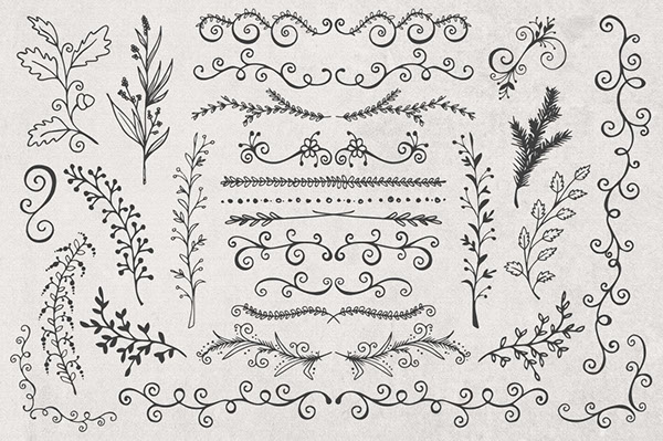 600x399 Hand Drawn Banners, Branches Amp Leaves On Behance