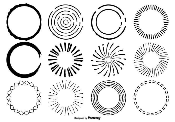 700x490 Hand Drawn Circle Shape Set