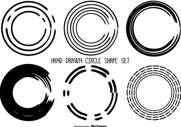632x443 Hand Drawn Messy Circle Shape Set Free Vector Download 358653
