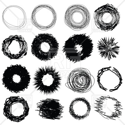 400x400 Hand Drawn Circles On White Background Vector Image Vector