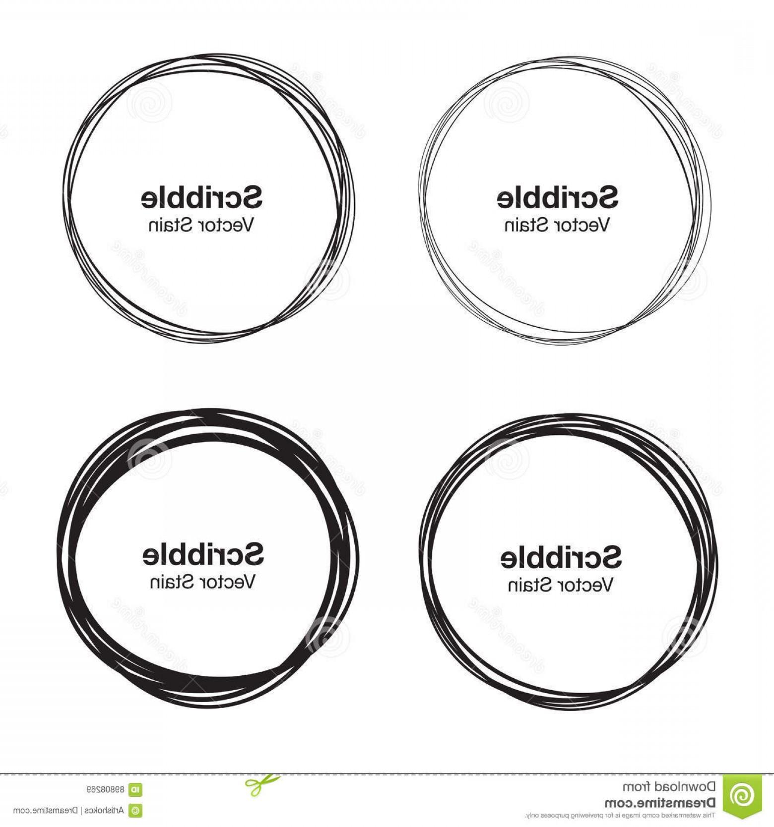 1560x1668 Stock Illustration Set Vector Hand Drawn Circles Using Sketch