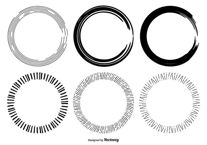 700x490 Hand Drawn Circle Frame Shapes