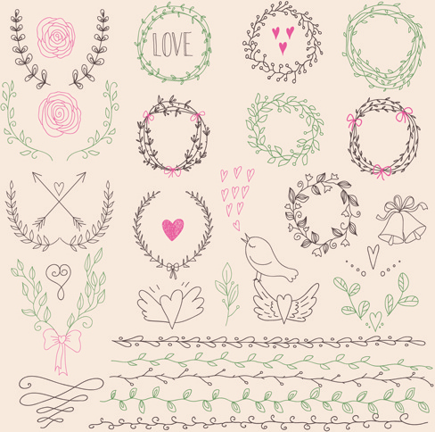 488x484 Hand Drawn Floral Frame With Border Vector Free Vector In