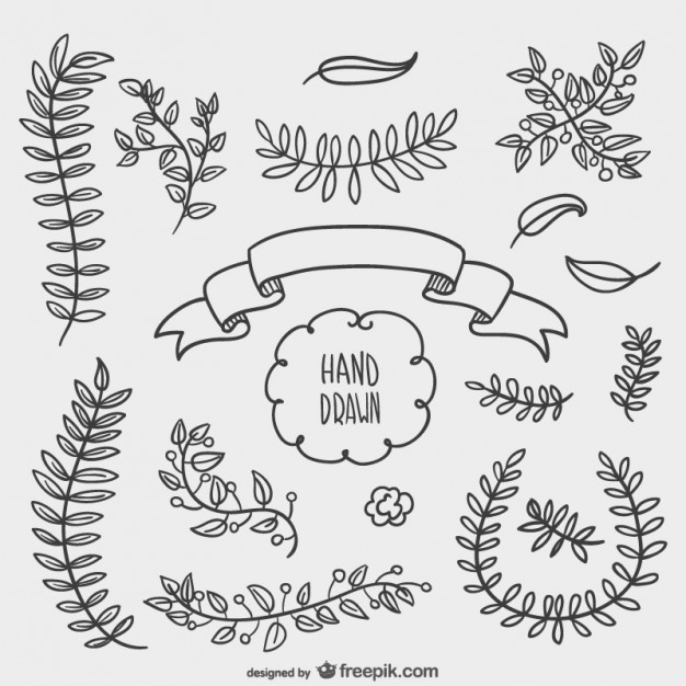 626x626 Hand Drawn Floral Ornaments Vector Free Download