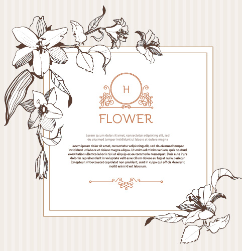 482x500 Hand Drawn Flower Vintage Frame Vector Free Vector In Encapsulated