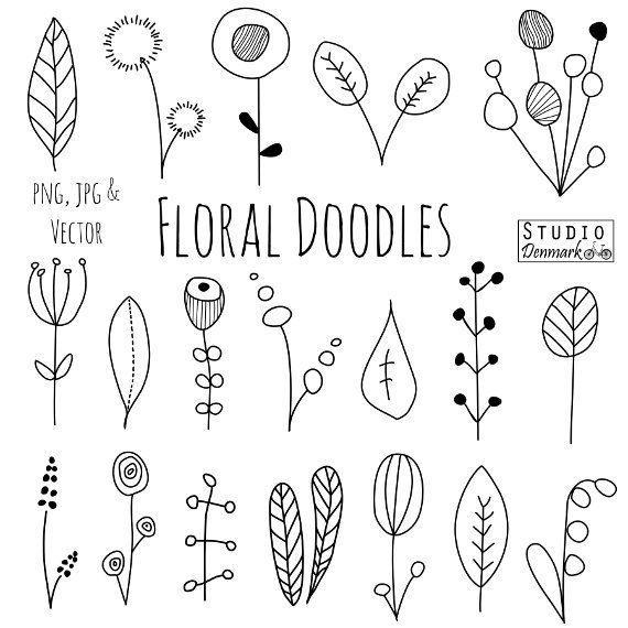 570x570 Doodle Flowers Clipart And Vectors