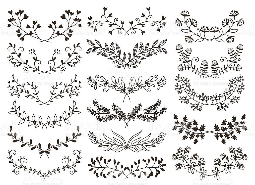1024x744 Drawn Floral Floral Element