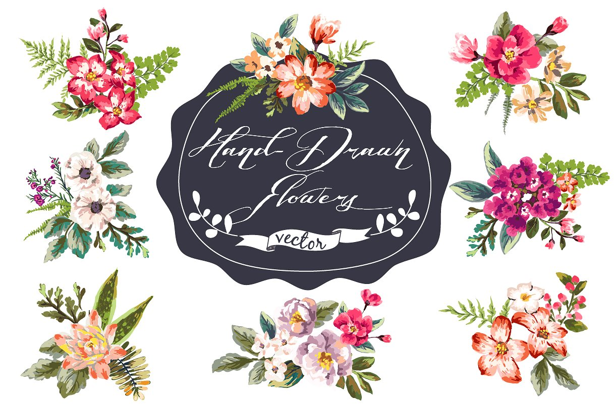 1219x805 Drawn Flower Hand Drawn