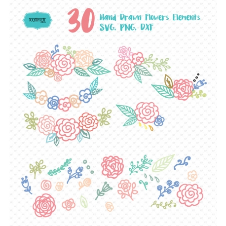 458x458 Hand Drawn Flowers, Drawing Flowers, Flower Vector.