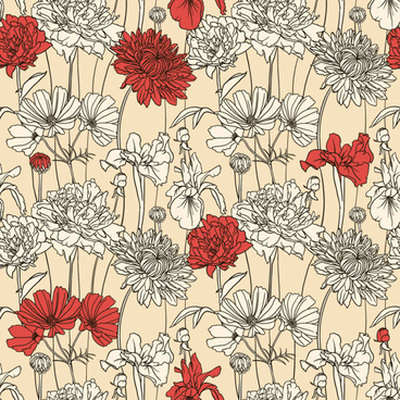 368x368 Hand Drawn Flowers Vector Free Vector Download (15,246 Free Vector