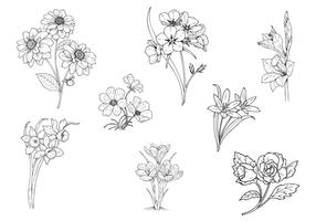 286x200 Vector Hand Drawn Colorful Flowers Background