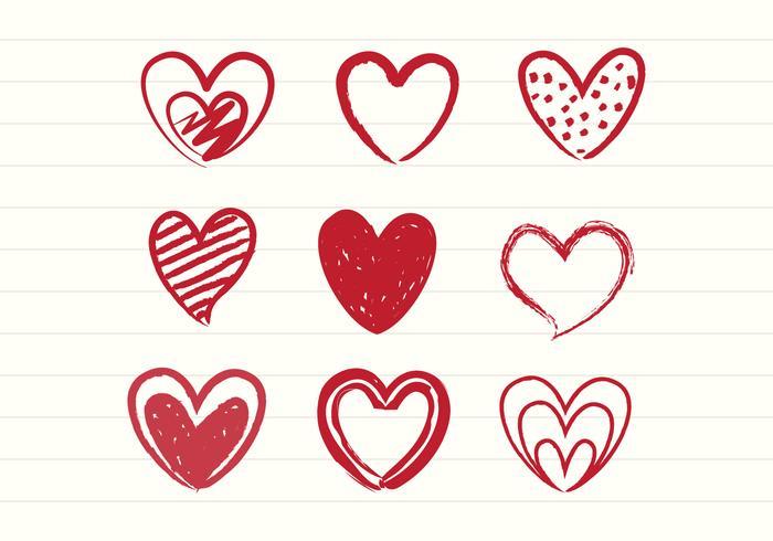 700x490 Hand Drawn Heart Free Vector Art