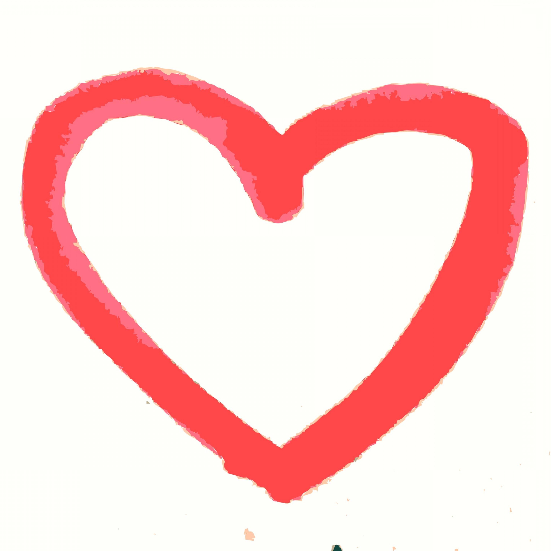 2880x2880 Hand Drawn Heart Vector Graphic Orangiausa