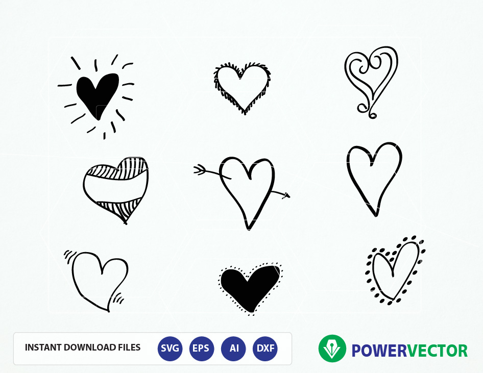 946x731 Hand Drawn Hearts. Hearts Svg Cut Files. Heart Png File. Love
