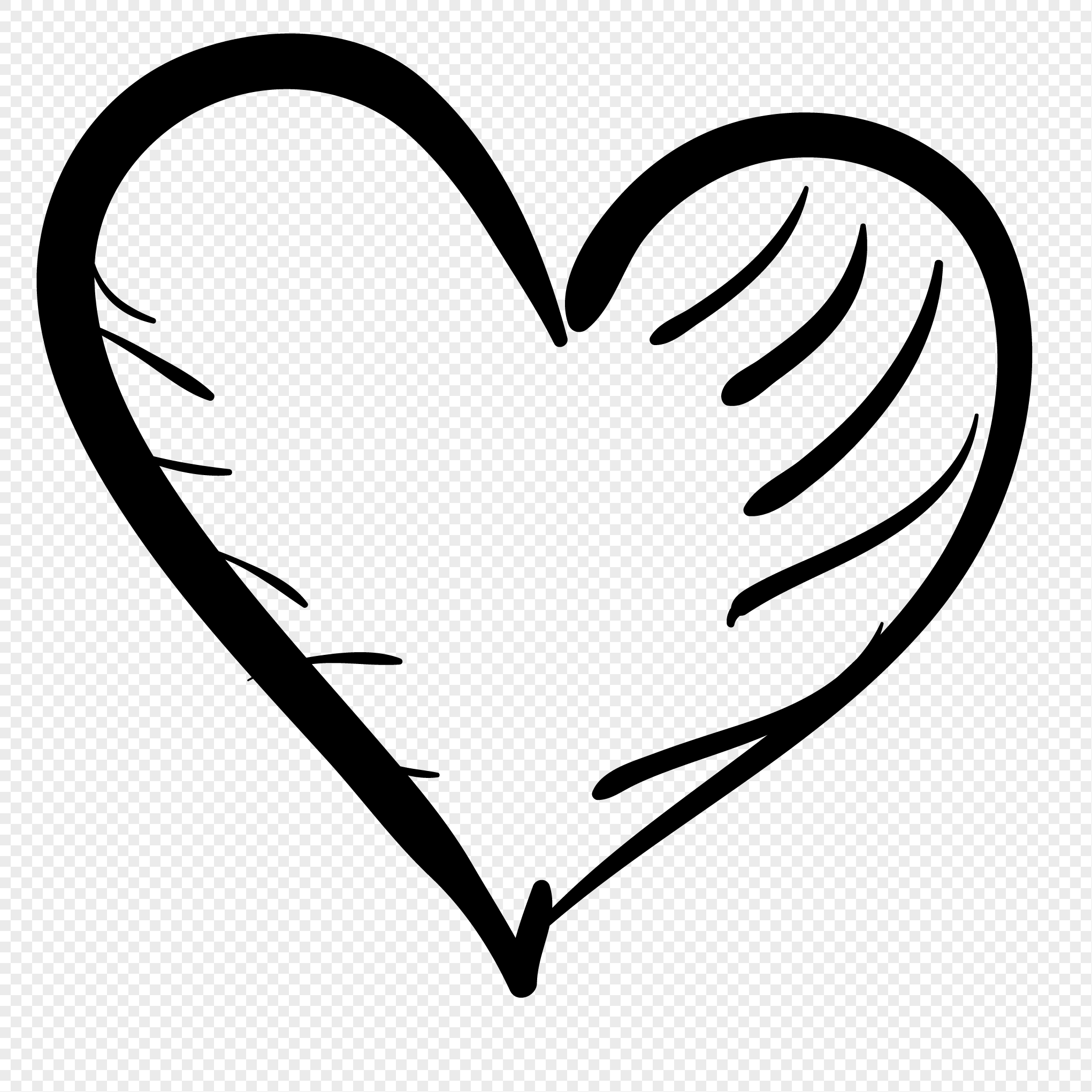2041x2041 Hand Drawn Heart Vector Image Picture 400315607 Free
